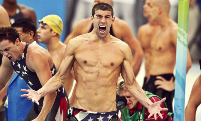 happy michael-phelps